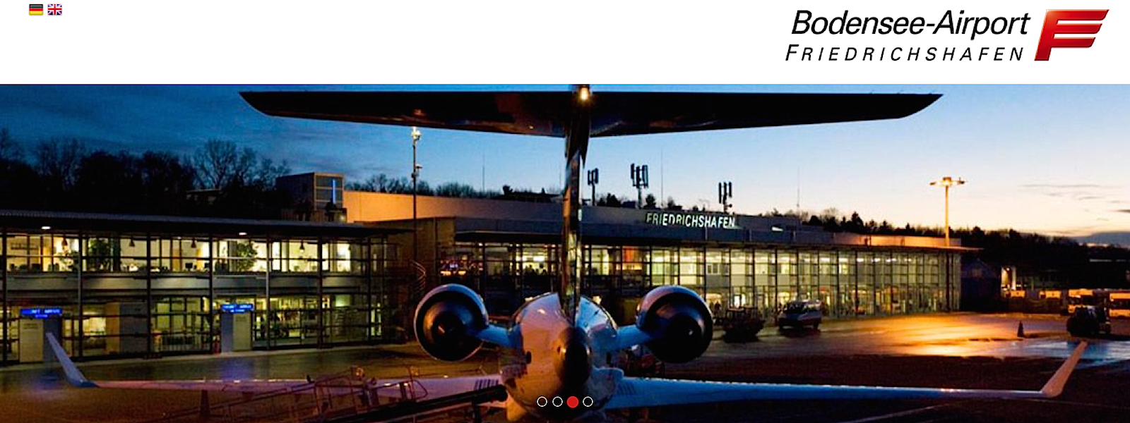 Screenshot Homepage Bodenseeairport